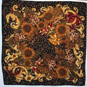 CHANEL | Sunflower Floral Silk Scarf